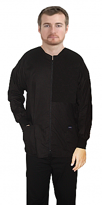 Jacket 2 pocket solid full sleeve unisex with zip rib