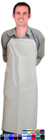 Clearance Apron bib style back open solid without pocket in Beige Color