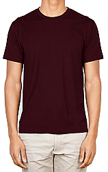 Unisex round neck solid t-shirt 100 perc cotton