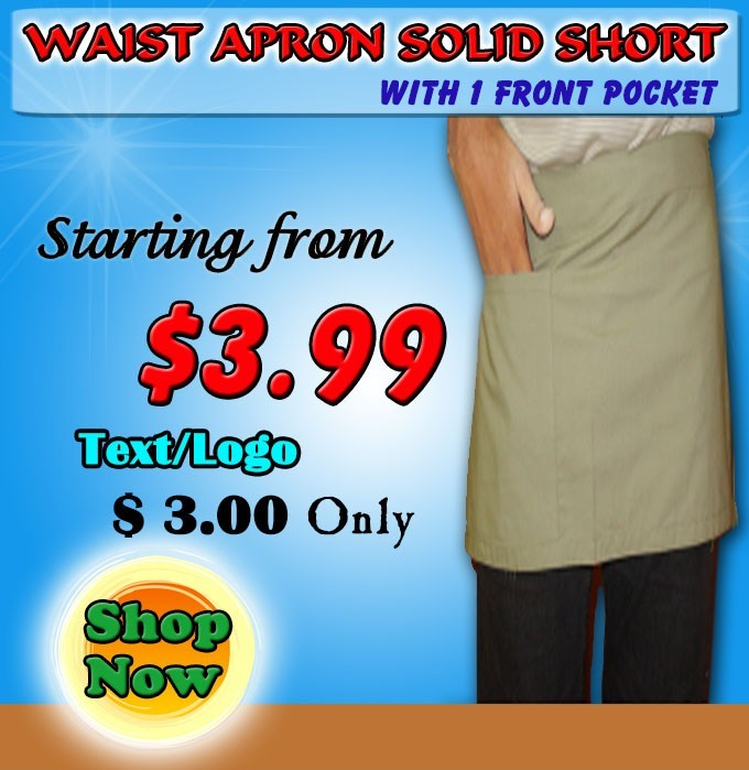 waist apron 1 pocket