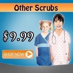 other printed kids scrubs