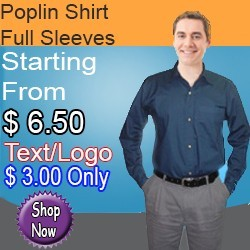 Poplin Shirt Full Sleeves